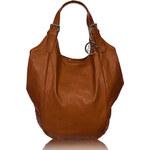 GbyG kožená kabelka hnědá maláGlamorous by Glam
