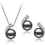 Souprava perlových náušnic a náhrdelníku