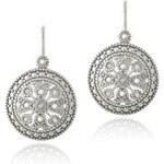 Diamantové náušnice ze stříbra