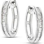 Kruhové náušnice s diamanty