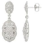 Stříbrné náušnice s diamanty