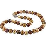 Náhrdelník z hnědých perel