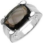 Stříbrný prsten s drahokamem