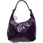 Kožená kabelka přes rameno s hadím vzorem - fialováGlamorous by Glam