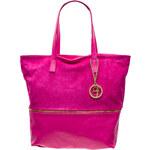 Kožená kabelka se zipem - růžováGlamorous by Glam