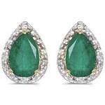 Klenota Náušnice se smaragdy a diamanty