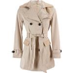 Glam Dámský kabát - béžový - XL