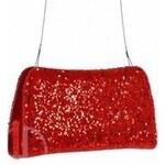 Regina Schrecker Luxusní červená společenská kabelka Regina Schrecker