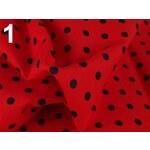 Stoklasa Bavlněný šátek 65x65 cm s puntíky (1 ks) - 1 červená jahoda