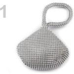 Stoklasa Společenská kabelka MINI 12x14 cm (1 ks) - 1 stříbrná sv.