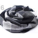Stoklasa stok_710134 Šátek 105x105cm KÁRO (1 ks) - 6 šedá hematit