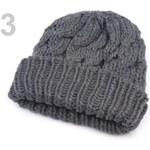 Stoklasa Čepice dámská ANNA pletená s lemem (1 ks) - 3 Dark Gull Gray