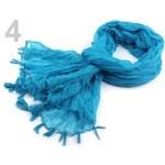 Stoklasa stok_700878 Šála 75x170-180cm jednobarevná imitace fáčoviny (1 ks) - 4 modrá azuro