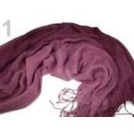 Stoklasa stok_690472 Šála 60x150cm duhovaná imitace fáčoviny (1 ks) - 1 Pastel Lilac