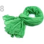 Stoklasa Šála 100x185 cm mačkaná (1 ks) - 8 zelená trávová