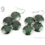 Stoklasa stok_160438 Náušnice kovové SÁRA 4 KRUHY ornamenty (1 pár) - 9 zelená pastelová