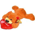Mix hračky ord20394 Plyšový medvídek se srdíčkem 37cm - dle obrázku