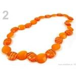 Stoklasa stok_150294 Náhrdelník z plastových korálků SAMANTA (1 ks) - 2 oranžová