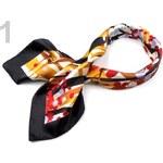 Stoklasa Saténový šátek 60x60 cm s potiskem (1 ks) - 1 oranžová
