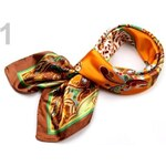 Stoklasa Saténový šátek 90x90 cm s potiskem (1 ks) - 1 oranžová