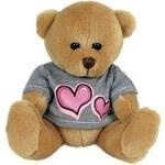 Rappa Plyšový medvěd v oblečku se srdcem 15 cm - dle obrázku