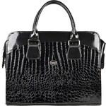 Grosso Dámská luxusní taška na notebook černý lak kroko ST01 - dle obrázku