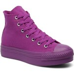 SALE -28% : Converse (Women) - Chuck Taylor All Star Mono Canvas Platform Hi W (Purple)