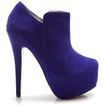Půvabné modré kotníčkové boty
