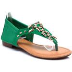 Okouzlující zelené dámské sandály