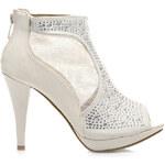 Vynikající béžové dámské kotníčkové boty