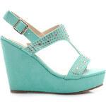 Pohádkové zelené dámské sandálky
