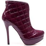 Okouzlující fialové dámské kotníkové boty