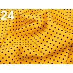 Stoklasa Bavlněný šátek 65x65 cm s puntíky (1 ks) - 24 oranžovožlutá