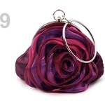 Stoklasa Slavnostní kabelka ROSE satén (1 ks) - 9 fialová gerbera