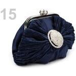 Stoklasa Slavnostní kabelka SATIN štrasová ozdoba (1 ks) - 15 modrá pařížská