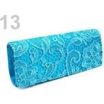 Stoklasa Kabelka - psaníčko 10-12x26 cm s krajkou (1 ks) - 13 modrá tyrkys