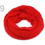 Stoklasa Nákrčník s flitry (1 ks) - 9 červená