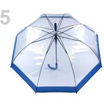 Stoklasa Dámský průhledný vystřelovací deštník (1 ks) - 5 modrá královská