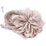 Stoklasa Dámský pásek s květem vázací (1 ks) - 1 Sandshell