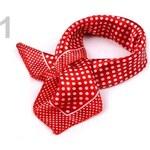 Stoklasa Šátek 47x47 cm s puntíky (1 ks) - 1 červená