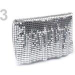 Stoklasa Kabelka 10x17cm z kovových placiček (1 ks) - 3 stříbrná sv.