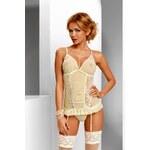 Avanua Erotický korzet Tessie corset XXL - krémová - XXL/XXXL
