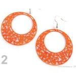 Stoklasa Náušnice kruhové s ornamenty Ø46mm (1 pár) - 2 oranžová