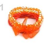 Stoklasa Dětský náramek z korálků (1 sada) - 1 oranžová mrkvová