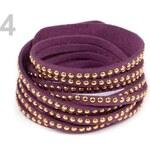 Stoklasa Náramek s cvočky dvojitý (1 ks) - 4 fialová
