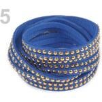 Stoklasa Náramek s cvočky dvojitý (1 ks) - 5 modrá královská