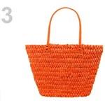Stoklasa Slámová taška 40x45cm (1 ks) - 3 oranžová