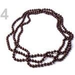 Stoklasa Náhrdelník z voskovaných perel 152 cm (1 ks) - 4 Brunette