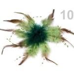 Stoklasa Brož 100x190 mm s perličkami (1 ks) - 10 zelená malachitová