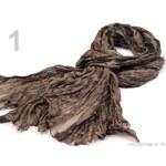 Stoklasa Šála 100x200cm hedvábná mačkaná (1 ks) - 1 hnědá
